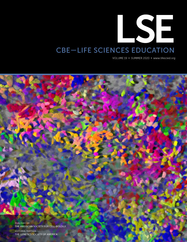Entering Research Article featured in CBE-Life Sciences Education Journal